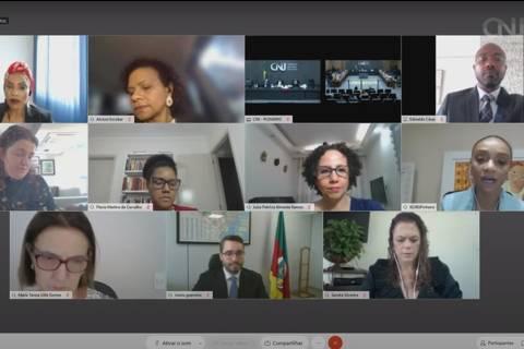 GT de Igualdade Racial no Judiciário durante sessão do CNJ, quando foi apresentado o relatório final do grupo