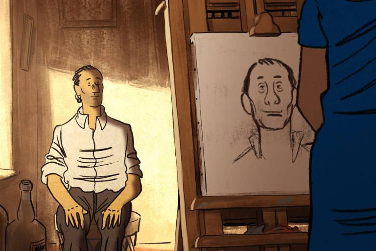 """Cena da animação """"Josep"""" (2020), de Aurel"""