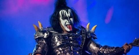 Gene Simmons, do Kiss, durante Monsters of Rock 2015, em São Paulo; banda toca nos festivais espanhois Resurrection, em Viveiro, de 12 a 14 de julho, e no Rock Fest Barcelona, de 5 a 7 de julho. Crédito: Camila Cara/Monsters Of Rock/Divulgação ORG XMIT: iOJElOZ61eyYXoLBzrIV DIREITOS RESERVADOS. NÃO PUBLICAR SEM AUTORIZAÇÃO DO DETENTOR DOS DIREITOS AUTORAIS E DE IMAGEM