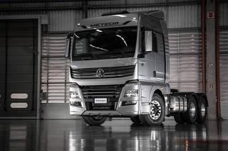 Linha de produção do caminhão extrapesado Volkswagen Meteor, em Resende.