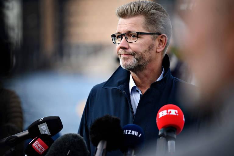 Frank Jensen, prefeito de Copenhague, em entrevista aos jornalistas