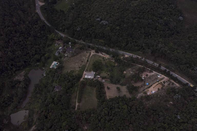 Vista de área desmatada