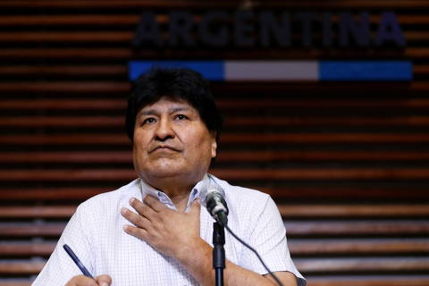 Former Bolivian President Evo Morales attends a news conference in Buenos Aires, Argentina October 22, 2020. REUTERS/Agustin Marcarian ORG XMIT: GGG-BAS102