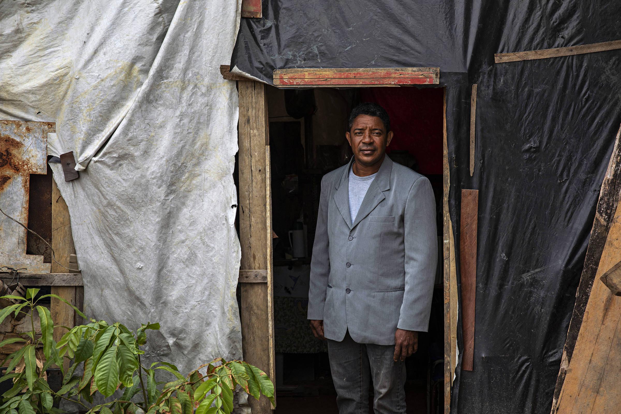 José Roberto de Jesus, 47, porta-voz do acampamento Boa Esperança