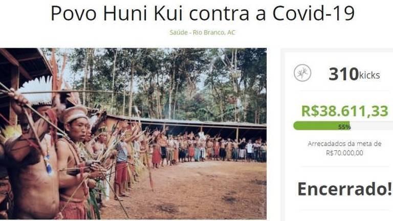 Comunidade fez vaquinha na internet para garantir alimentação e equipamentos médicos para os indígenas