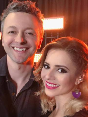 Sandy com o marido Lucas Lima