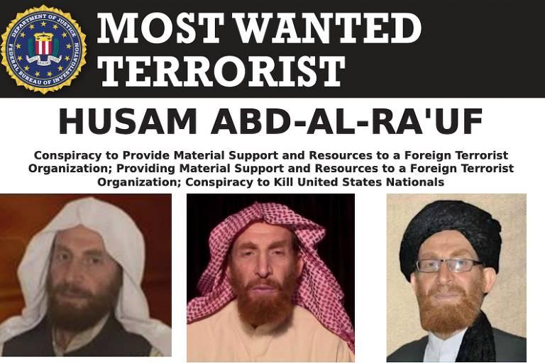 Cartaz do FBI mostra Abu Muhsin al-Masri como um dos integrantes da lista de terroristas mais procurados da polícia federal americana