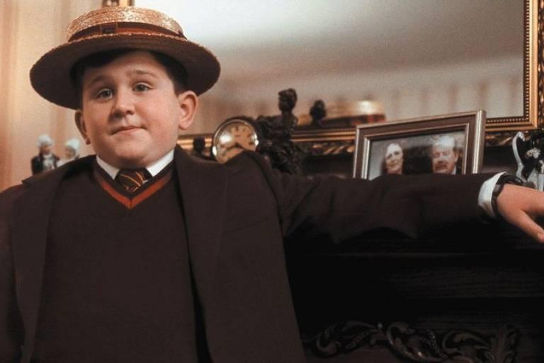 """Harry Melling como Dudley Dursley no primeiro filme da franquia """"Harry Potter"""""""