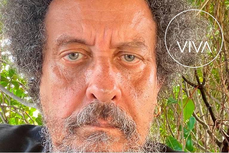 O jornalista e publicitário João Santana no Roda Viva