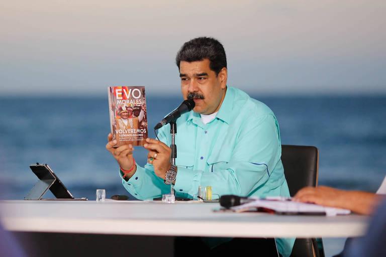 Maduro diz ter se encontrado com Evo em viagem fugaz do ex-presidente boliviano a Caracas