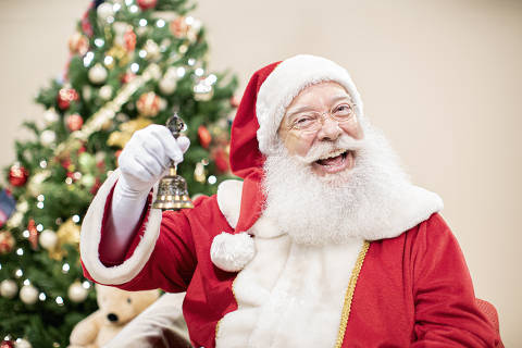Papai Noel interpretado pelo ator Orlando Brandão