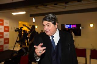 José Luiz Datena na entrega do Grande Prêmio Risadaria
