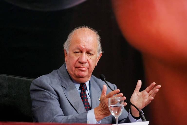 O ex-presdiente do Chile Ricardo Lagos durante entrevista coletiva em Salamanca, na Espanha