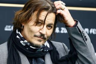 Actor Depp poses at the16th Zurich Film Festival in Zurich