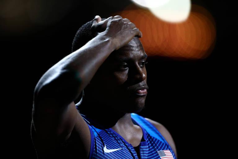 Christian Coleman é o atual campeão mundial dos 100 m e detentor do recorde nos 60 m indoor