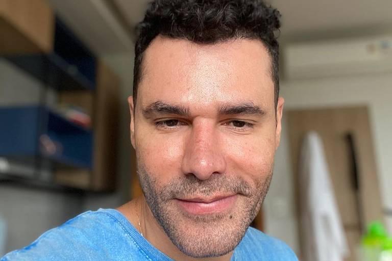 Diagnosticado com Covid, Rodrigo Sant'Anna respira sem aparelhos