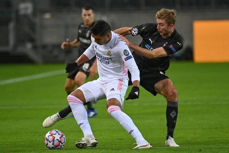 Casemiro salva Real Madrid de segunda derrota na Champions