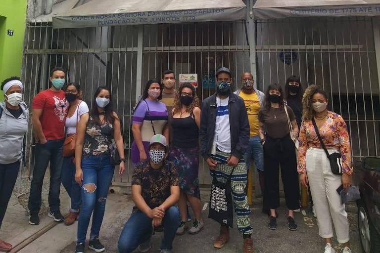 Caminhada São Paulo Negra, evento realizado pelas ruas da capital paulista para contar  a história de lugares e personagens negros
