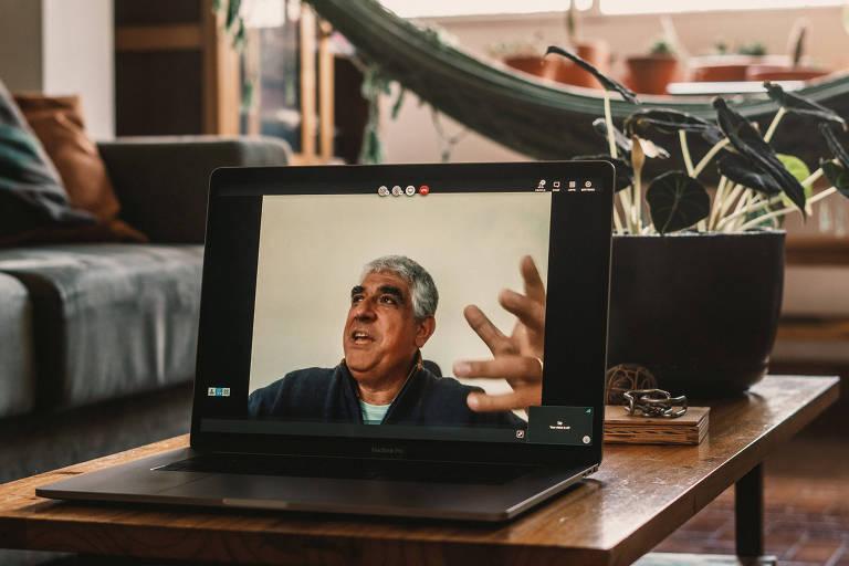 Fersen Lamas Lambranho, sócio e presidente do conselho da GP Investments, em tela de computador durante entrevista por vídeo
