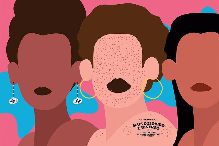 Ilustração criada pela publicitária Andrea Siqueira, da BETC/Havas, em homenagem à Folha Top of Mind 2020