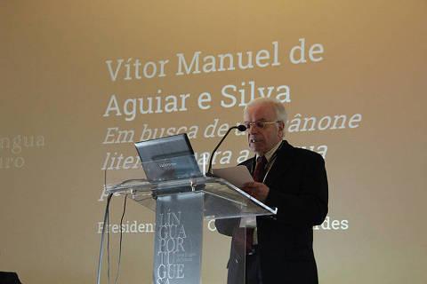 Professor Vitor Manuel de Aguiar e Silva.Fotografia: UC/Milene Santos