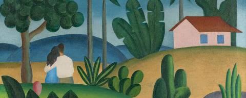 'Idílio', pintura de Tarsila do Amaral de 1929 exibida pela galeria Bergamin e Gomide na feira online Tefaf Nova York 2020