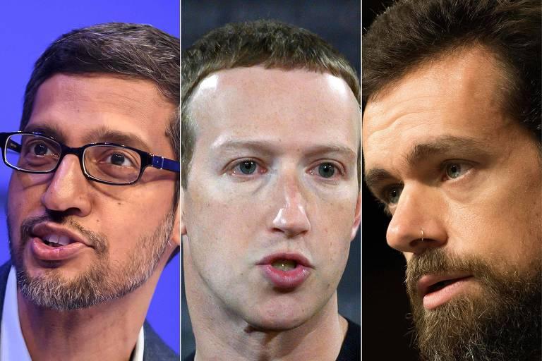 Facebook, Google e Twitter depõem no Congresso dos EUA