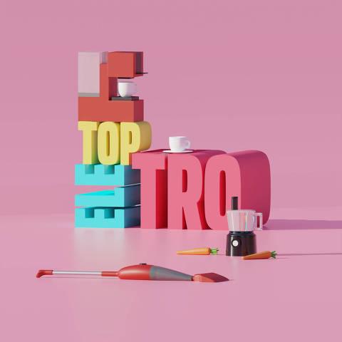 Ilustração da categoria Top Eletro da Folha Top of Mind 2020