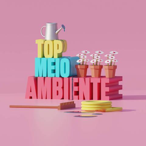 Ilustração da categoria Top Meio Ambiente da Folha Top of Mind 2020