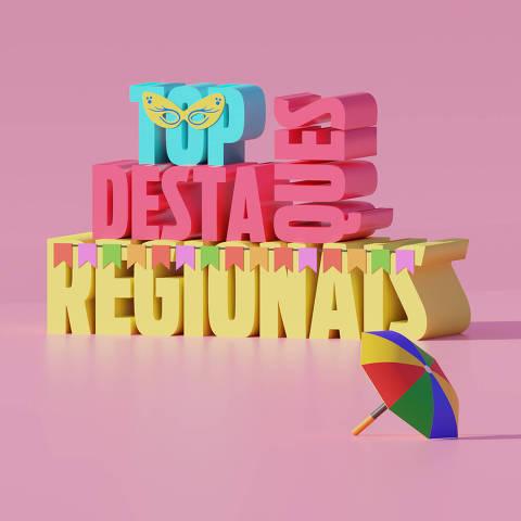Ilustração da categoria Top Destaques Regionais da Folha Top of Mind 2020