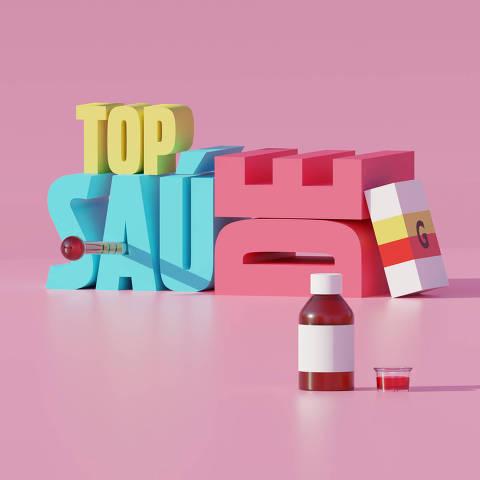 Ilustração da categoria Saúde da Folha Top of Mind 2020