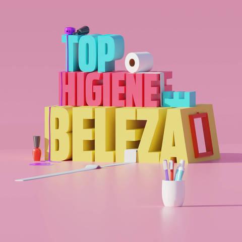 Ilustração da categoria Top Higiene e Beleza da Folha Top of Mind 2020