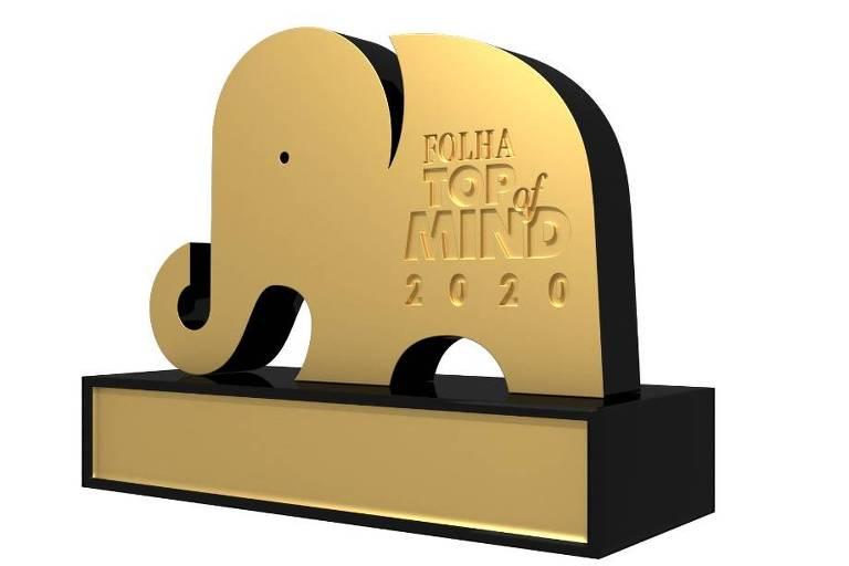 O prêmio entregue às marcas campeãs da Folha Top of Mind