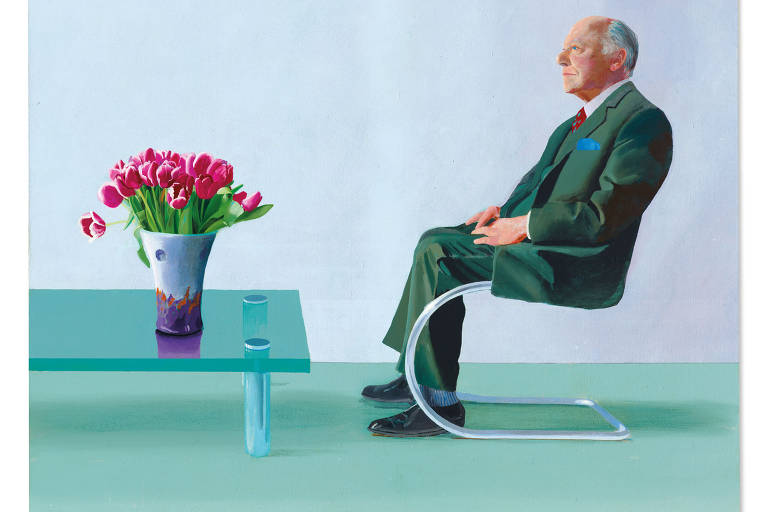 "Tela ""Portrait of Sir David Webster"", do pintor britânico David Hockney"