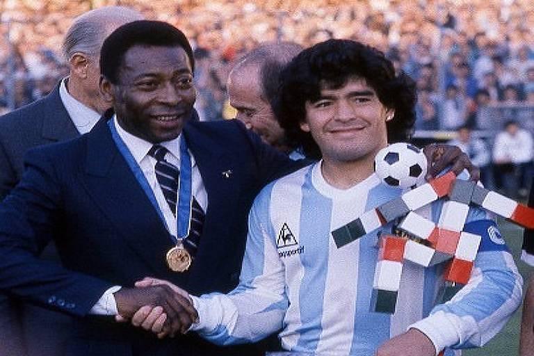'Eu vou sempre te aplaudir', diz Pelé no aniversário de Maradona