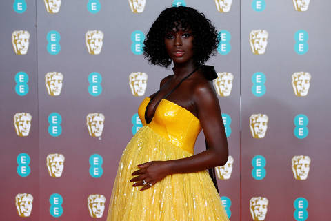 FILE PHOTO: Jodie Turner-Smith arrives at the British Academy of Film and Television Awards (BAFTA) at the Royal Albert Hall in London, Britain, February 2, 2020. REUTERS/Henry Nicholls/File Photo ORG XMIT: FW1
