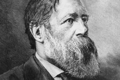Retrato de Friedrich Engels, que completa seu bicentenário, por H. Schey.