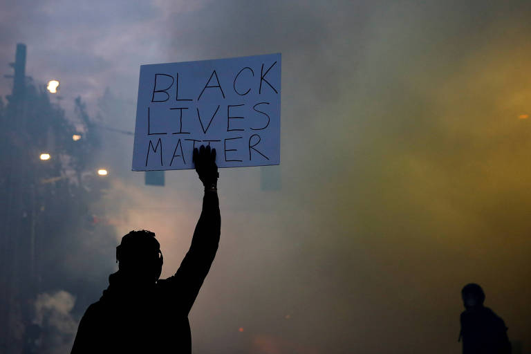 Protesto do movimento Black Lives Matter em Seattle, Washington, nos Estados Unidos