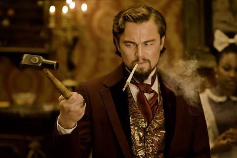 Leonardo DiCaprio como Calvin Candie em Django Livre  ***DIREITOS RESERVADOS. NÃO PUBLICAR SEM AUTORIZAÇÃO DO DETENTOR DOS DIREITOS AUTORAIS E DE IMAGEM*** *** FOTO EM ARTE E NÃO INDEXADA ***