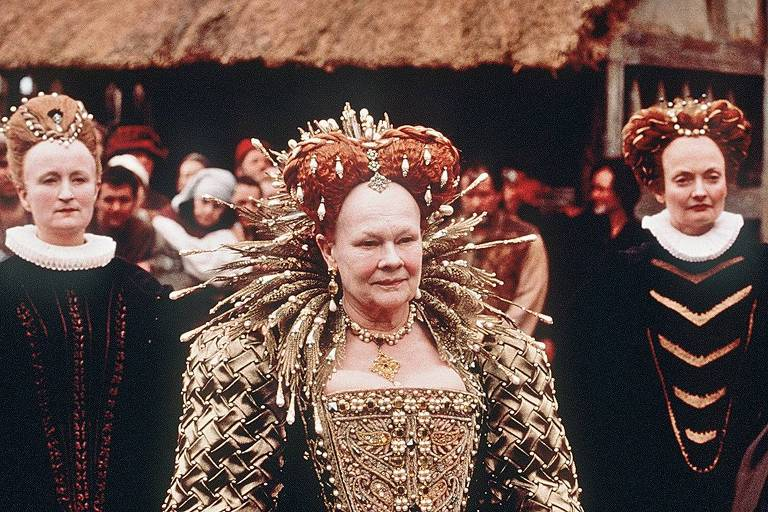 Cena do filme 'Shakespeare Apaixonado' com a atriz Judi Dench