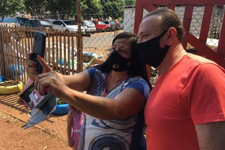 O prefeito de Araraquara, Edinho Silva (PT), ex-tesoureiro e alvo da Lava Jato, em campanha pela reeleição