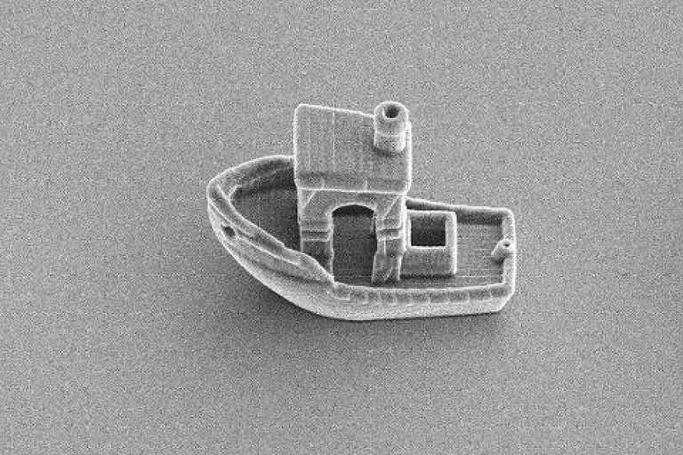 Pesquisadores imprimem menor barco do em 3D