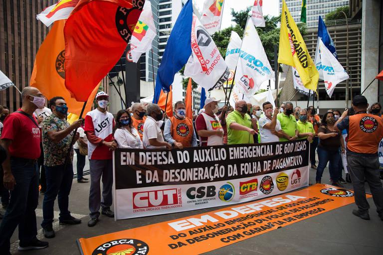 Centrais sindicais pedem manutenção de auxílio emergencial de R$ 600