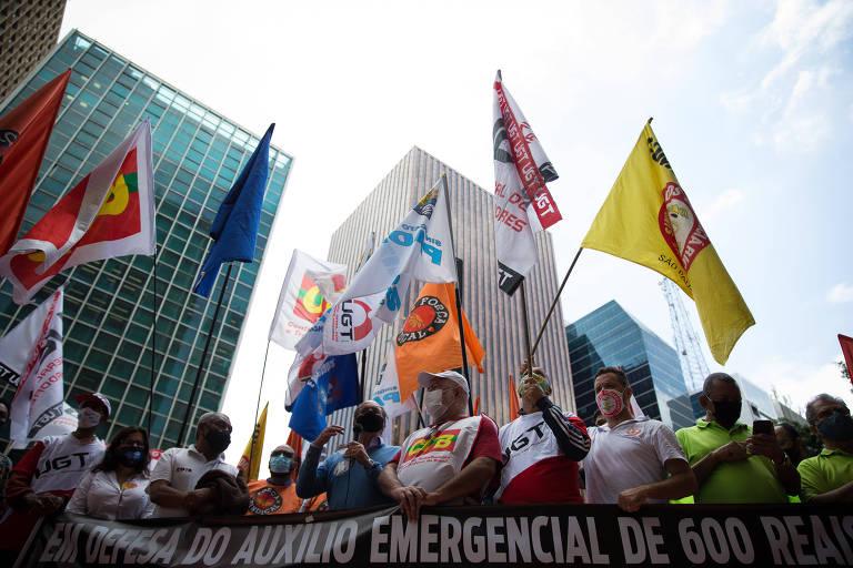 Centrais sindicais voltam à carga por retorno do auxílio emergencial e por vacinação em massa