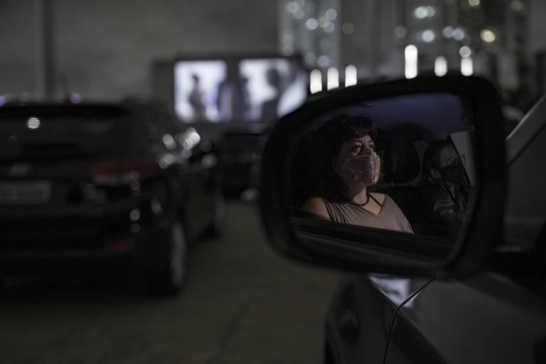 """Abertura da Mostra de Cinema de São Paulo, com sessão drive-in do filme """"Nova Ordem"""", no Memorial da América Latina"""