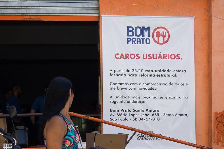 Obra fecha unidade do Bom Prato de Paraisópolis, na zona sul de SP