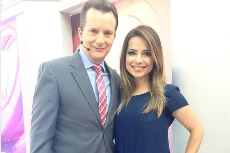 O deputado federal Celso Russomanno e Natiare Azevedo, sósia da cantora Sandy e nomeada fiscal do Procon paulistano