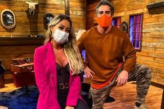 Marcos Mion com Carol Narizinho