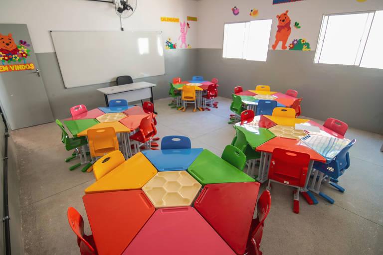 sala de aula infantil vazia