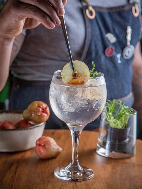 Drinque do A Ventana, bar de São Paulo